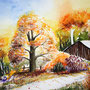 Herbst Aquarell 2015 36 x 48 cm