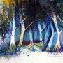 Bäume Aquarell 30 x 40 cm