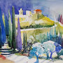 San Miniato Toskana 2018 Aquarell 36 x 48 cm