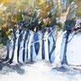 Bäume 2013  Aquarell 30 x 40 cm