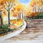 Herbst Aquarell 36 x 48 cm