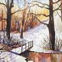Winterimpression 2020 Aquarell 24 x 32 cm