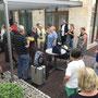 Ankunft in Proskau und Begrüßung durch die Frau Bürgermeister