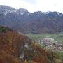 Blick zur Kremsmauer und Micheldorf