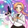"""<div style=""""text-align:left;"""">2010.2.25<br>和紗さんのオリジナルキャラクター、ルーティちゃんを描かせて頂きました。みつあみキャラって素敵だと思う!</div>"""