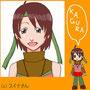 """<div style=""""text-align:left;""""><a href=""""http://rakugakifile.blog99.fc2.com/"""" target=""""_blank"""">村崎シヲンさん</a>がうちのオリキャラのかぐらを描いてくださいました。<br> 可愛いミニキャラバージョンとアップの笑顔が素敵です!ありがとうございます!</div>"""