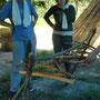 枝ハンガー作り