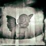 L'ange dans la neige (Plaque ancienne)