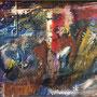 bühne (absurdes theater) | mischtechnik 27x36 cm