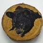 """""""π der Bär"""", 50cm, Öl & Acryl auf Holzplatte,2020"""