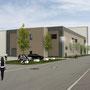 Visualisierung Neubau Reinraumhalle mit Technik und Büro