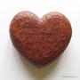 Подарок на деревянную свадьбу. Сердце с ангелом хранителем, с надписью. Липа, морилка, лак.