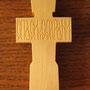 Крест нательный из самшита, длинна 69мм, толщина 11мм, покрытие - воск.