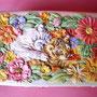 Шкатулка - Тигрята в цветах