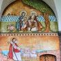 Die Hl. Familie in Ägypten, Jesus als Guter Hirte vor dem Schloss von Corvey, Malerei: Dalia Sobhi