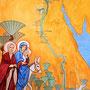 "Der neue Themenraum: ""Die Heilige Familie in Ägypten"". Malerei: Daniela Rutica. Foto: Jennifer Peppler"