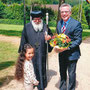 S.E. Bischof Anba Damian begrüßt den Bundesinnenminister Dr. Thomas de Mazière (28.05.2015)