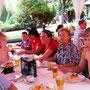 Blick auf die Tische mit den FC-Mitgliedern