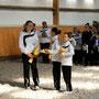 Nachwuchsdoppel-Sieger Ina Rick und Gina Hermann