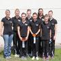Juniorteam (v.l. Landestrainerin Silke Theisen, Kim, Chiara, Annika, Gina, Alex, Ina und Hannah)