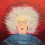 Frau mit weißem Haar,  60 x 65 cm