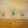 Drei schwebende Rechtecke, 78 x 63 cm, verkauft