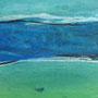 Acryl auf Papier 3,   19 x 17 cm
