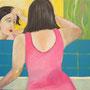 Frau im Spiegel, verkauft