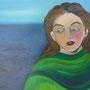 Frau am Meer,  60 x 75 cm, verkauft