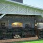Барбекю комплекс с навесом: духовка, плита под казан, мангал, вертел, генератор углей, русская печь, самовар