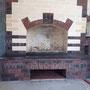 Многофункциональный печной комплекс барбекю с камином, мангалом, вертелом, генератором углей, русская печь