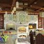 Беседка с печным комплексом: плита под казан, мангал, вертел, генератор углей, барбекю, камин