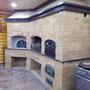 Банный комплекс с русской печью, мангал, вертел, генератор углей, духовка