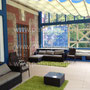 Фото террасы с барбекю кухней и зоной отдыха