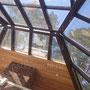 Беседка с печным комплексом: слайдерное остекление, плита под казан, мангал, вертел, генератор углей, русская печь