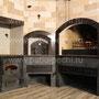 Печной комплекс с мангалом, вертелом, каминной вставкой, пицца печью и плитой под казан