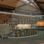 Беседка с остеклением и обеденной зоной с печным комплексом: мангал, русская печь, плита под казан