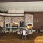Барбекю комплекс: плита под казан, русская печь, мангал, вертел, коптильня горячего и холодного копчения, камин