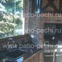 Многофункциональный печной комплекс с русской печью, мангалом, вертелом, тандыром, коптильней, камином