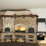 Печной комплекс барбекю: мангал, вертел, генератор углей, плита под казан, русская печь, тандыр, духовка