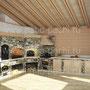 Барбекю комплекс: коптильня, мангал, русская печь, плита под казан, разделочные столики