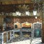 Открытая беседка с печным комплексом: плита под казан, русская печь, мангал, вертел, генератор углей, тандыр