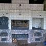 Беседка с барбекю комплексом: коптильня, мангал, вертел с эл. приводом, генератор углей, плита под казан, рабочие поверхности