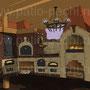 Фото печного комплекса под навесом: коптильня горячего копчения,русская печь, духовка, плита под казан,, мангал, вертел