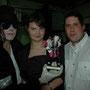 Avec Anis et la statue de Michael Jackson avec mon nom gravé...;0)