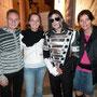 Avec mes amis Christophe et Cindy ma femme