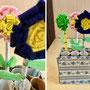 ペン立てとフェルトのお花