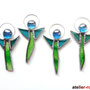 Engel Tiffany 4er Set Schutzengel Baumschmuck