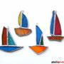 Segelschiffe 4er Set Tiffany