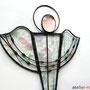 Tiffany Fensterbild Art deco Engel